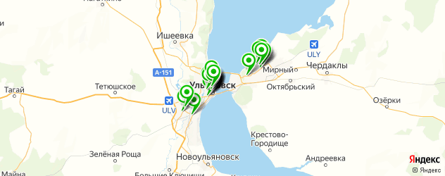 гиалуроновые инъекции на карте Ульяновска