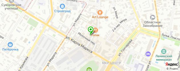 Доставка китайской лапши на карте Ульяновска