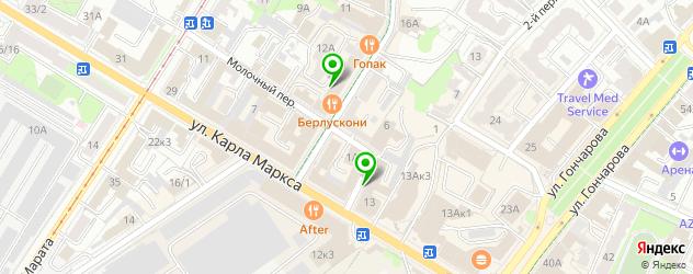 грузинские рестораны на карте Ульяновска