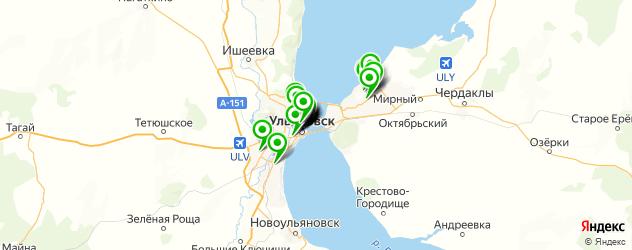 спорты-бары на карте Ульяновска