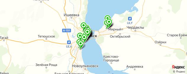 кафе с живой музыкой на карте Ульяновска