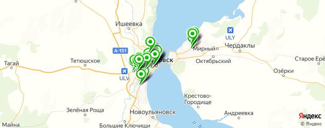 столовые на карте Ульяновска