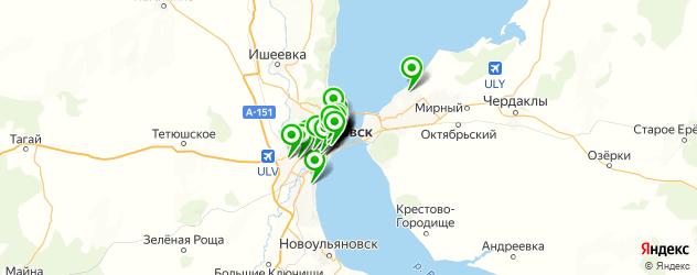 курсы на карте Ульяновска