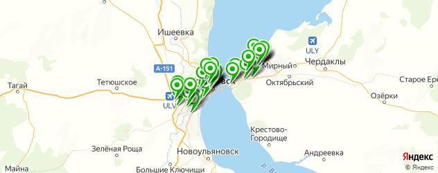вегетарианские кафе на карте Ульяновска