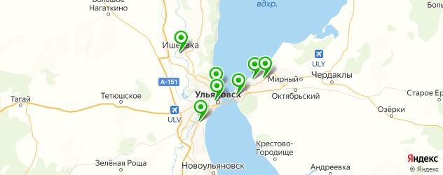 стадионы на карте Ульяновска