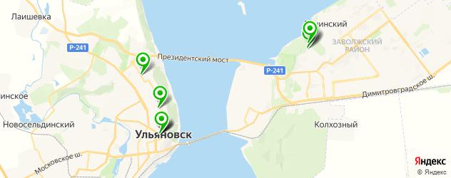 санатории на карте Ульяновска