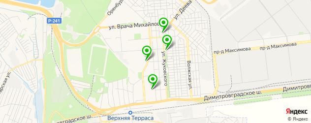 автошколы на карте Верхней Террасы