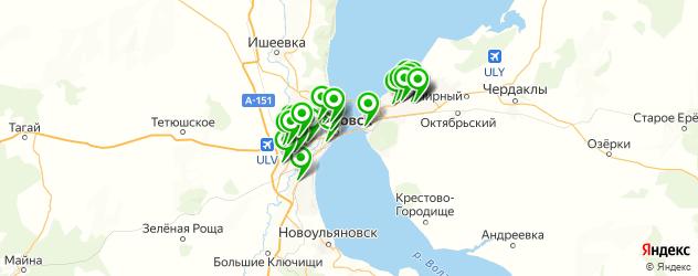 установка автомагнитол на карте Ульяновска