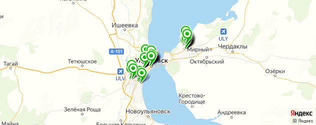 бесплатный Wi-Fi на карте Ульяновска
