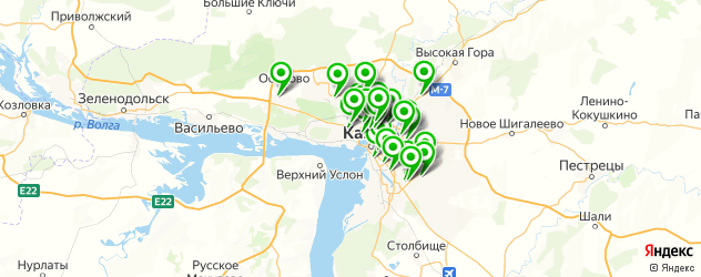 автошколы на карте Казани