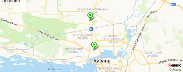 английские детские сады на карте Казани