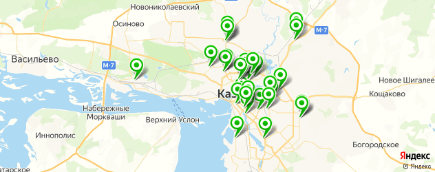 сервисные центры на карте Казани
