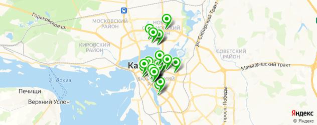 бесплатный Wi-Fi на карте Казани