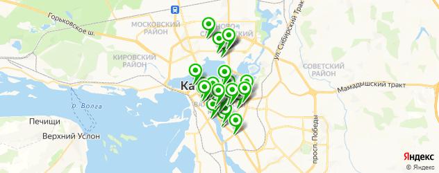 рестораны для дня рождения на карте Казани