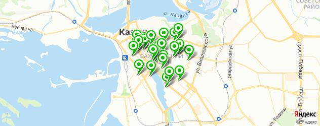 рестораны на карте метро площадь Тукая