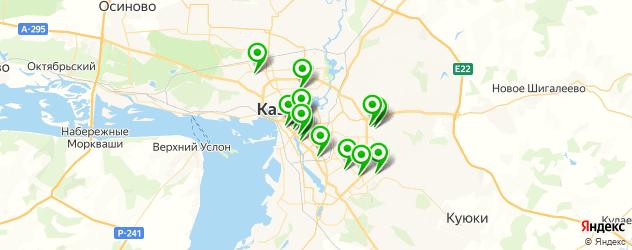 кальянные на карте Казани
