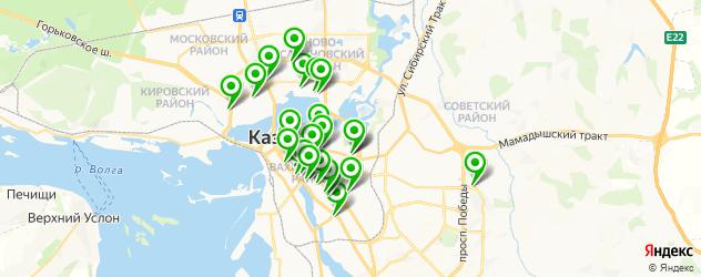 вегетарианские рестораны на карте Казани