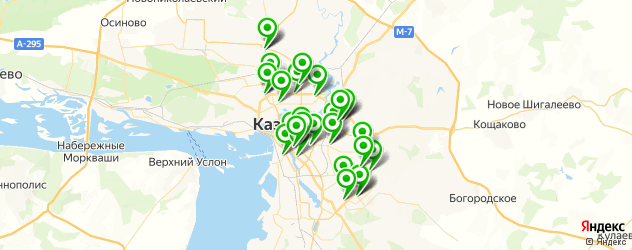 подбор очков на карте Казани