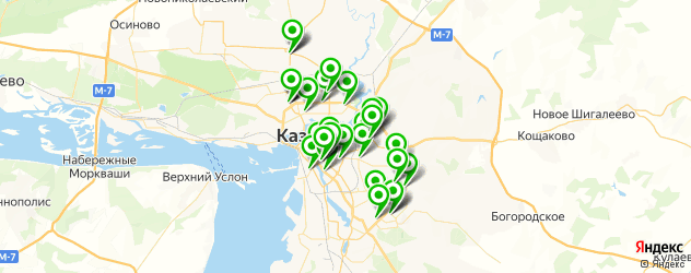 салоны оптики с проверкой зрения на карте Казани