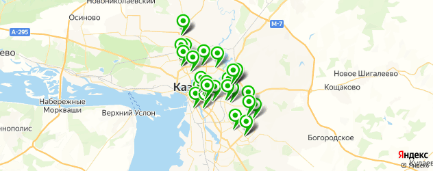 салоны оптики на карте Казани