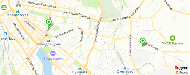горячий маникюр на карте Казани