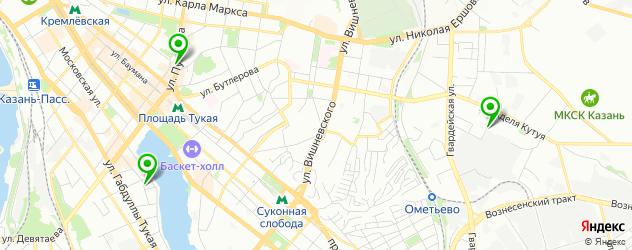 курсы бровиста на карте Казани