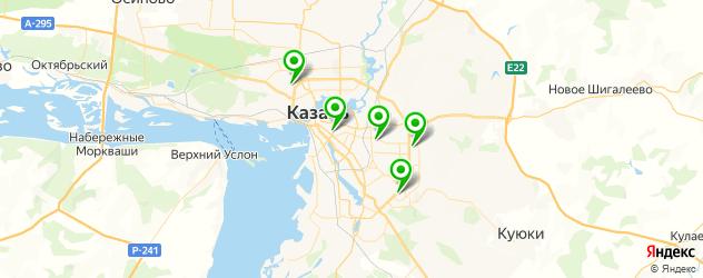 экспресс-педикюр на карте Казани