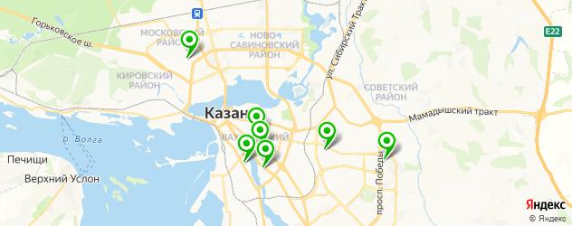 наращивание ногтей гелем на карте Казани
