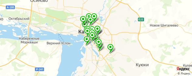 рестораны с детской комнатой на карте Казани