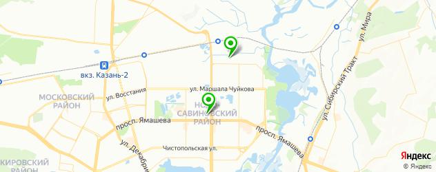 замена стекол в межкомнатных дверях на карте Казани