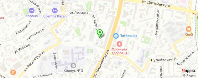 клиники гирудотерапии на карте Казани