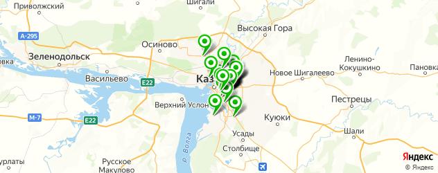 общежития на карте Казани