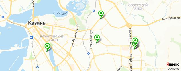 коррекция мужских бровей на карте Казани
