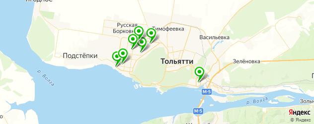креативное окрашивание на карте Тольятти