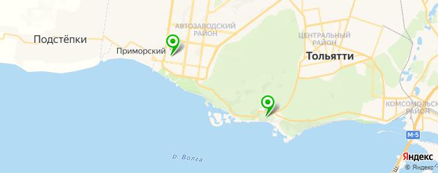 НИИ на карте Тольятти