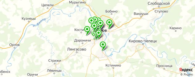 ремонт порогов автомобиля на карте Кирова