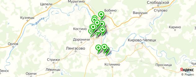 детские клубы на карте Кирова