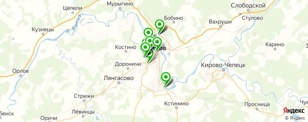 детские больницы на карте Кирова