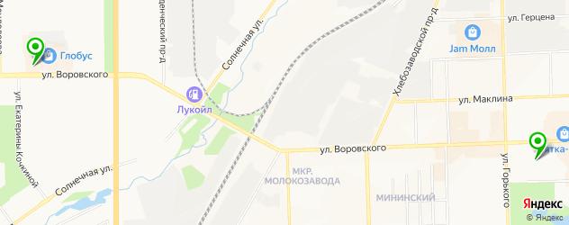 боулинги на карте Кирова