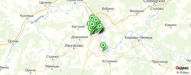 Бытовые услуги на карте Кирова
