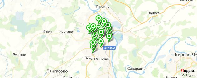 замена лобового стекла на карте Кирова