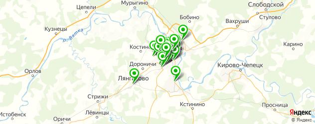магазины автоаксессуаров на карте Кирова