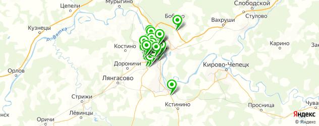 автостоянки на карте Кирова