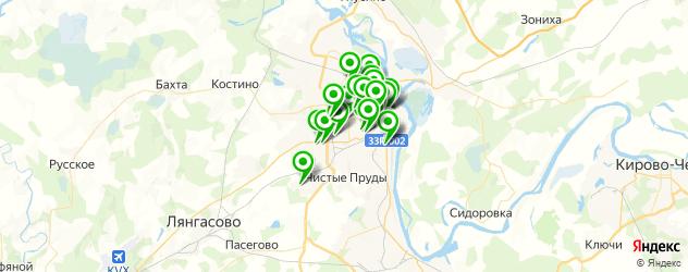 институты на карте Кирова