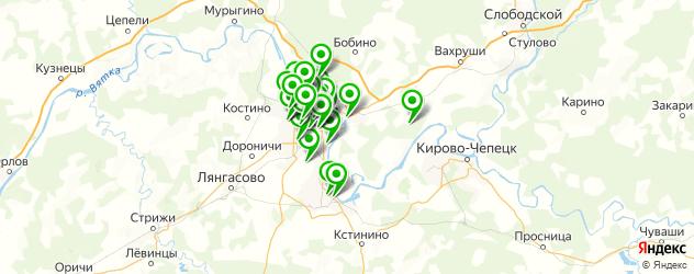 сауны на карте Кирова