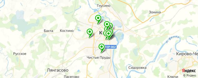 салоны бровей на карте Кирова