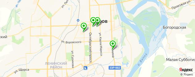 картинные галереи на карте Кирова