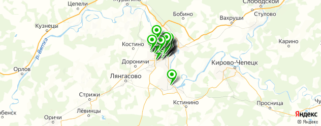 аптеки на карте Кирова