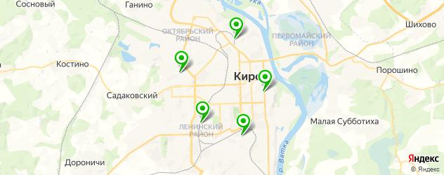 Диагностика Ауди на карте Кирова