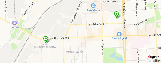 центры эстетической медицины на карте Кирова